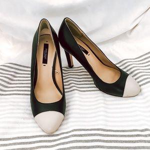 Zara Black and Beige Heels